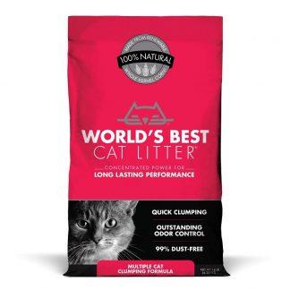 """וורלד'ס בסט """"מספר חתולים"""" אדום מצע תירס אקולוגי מתגבש לחתולים"""