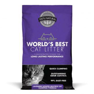 """וורלד'ס בסט """" לבנדר"""" מצע תירס אקולוגי מתגבש למספר חתולים"""