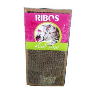 ריבוס מגרדת מקרטון לחתולים עם קטניפ