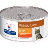 שימורי הילס מזון רפואי K/D לחתול 156 גרם