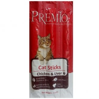 פרמיו חטיף לחתול מקלות עוף וכבד 15 גרם