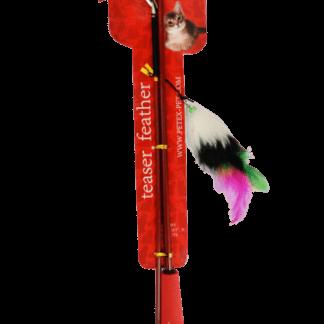 פטקס משחק חכה עם נוצה צבעונית לחתול