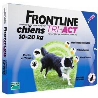 פרונטליין טרי-אקט טיפות למניעת פרעושים וקרציות בכלבים