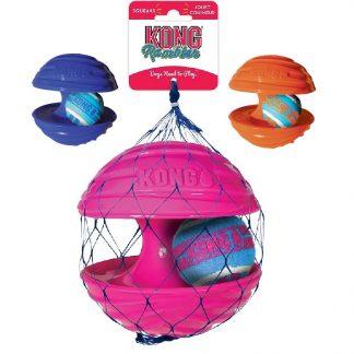 קונג ראמבלר צעצוע משולב גומי מצפצף וכדור טניס