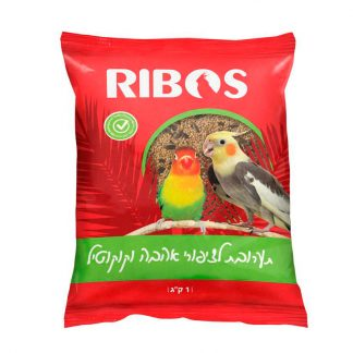ריבוס תערובת מזון לציפורי אהבה ולקוקטיל