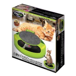 משטח גירוד לבד לחתול עם משחק עכבר