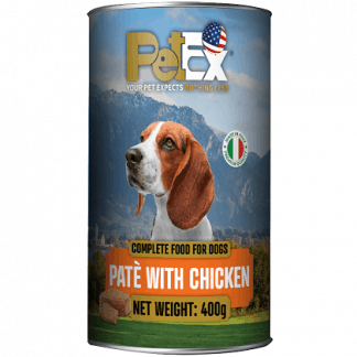 פטקס שימור לכלב מרקם פטה עם עוף