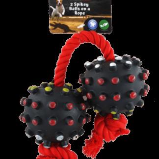 פטקס צעצוע מצפצף שני כדורים וחבל