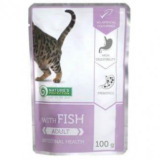 נייצ'רס פרוטקשן פאוץ' לחתול בוגר דג אינטסטינל